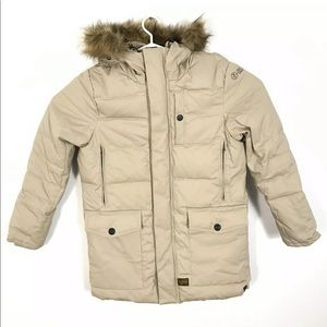 G-Star Raw Fur Trim Hood Down Puffer Parka Jacket